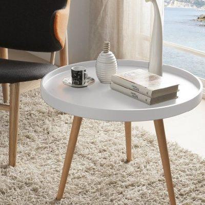 میز جلو مبلی لبه دار سفید