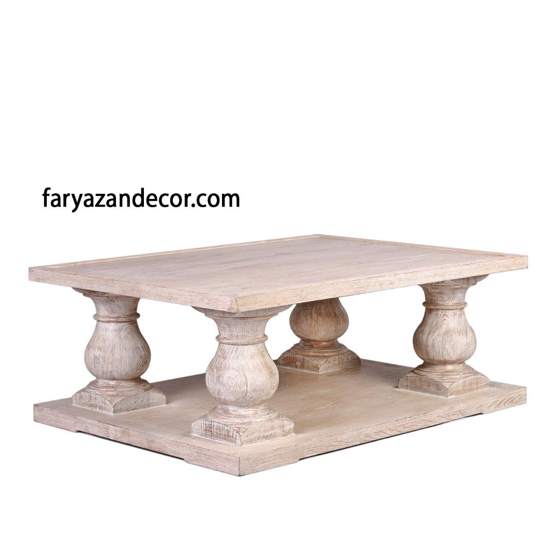 میز جلو مبلی پایه ستونی